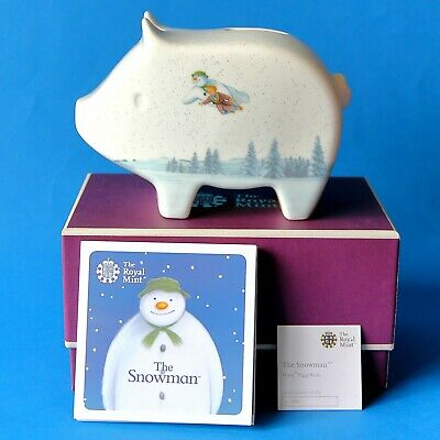 Royal Mint Snowman And James Piggy Bank Sold Out At Mint New In Box