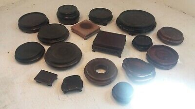 Job Lot 17 Chinese Wooden Stands
