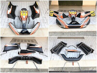 Kit Carene Carenature Go Kart 100cc 125cc Plastiche Con Attacchi Ferri Staffe