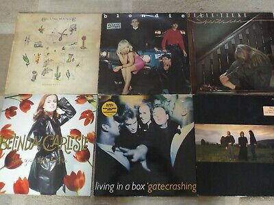 A JOB LOT / COLLECTION OF CLASSIC 1980s VINYL ALBUMS LPs: SOME RARE:VG+ to EX