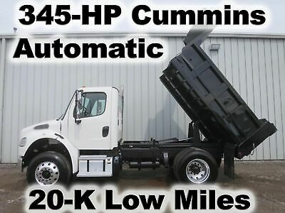 M2 Cummins Isl 345-Hp 10Ft Dump Bed Body Haul Delivery  Truck 20-K Low Miles