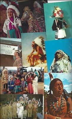 Lot of 150 INDIAN Postcards - MIXED VARIETY - Several Tribes