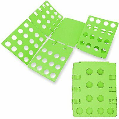WYZworks Adjustable Adult Magic Fast Folder Clothes T-Shirts Folding Board Green