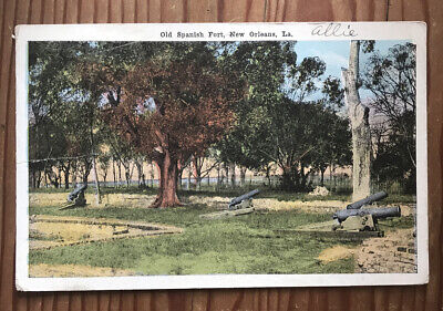 Old Spanish Fort New Orleans Louisiana USA 1920 Vintage Postcard