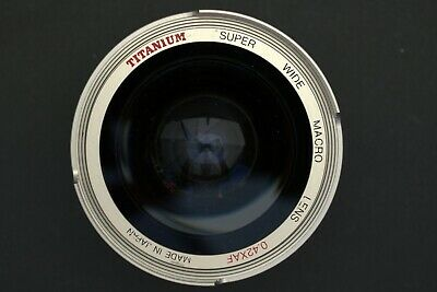 TITANIUM SUPER WIDE ANGLE MACRO LENS 0.42XAF with Bower SVII 58mm ADAPTER RING