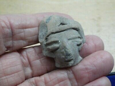 RARE Aztec, MAYAN  c. 800-1500 AD. CLAY HEAD LOT Z-14
