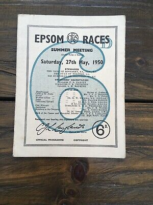 1950 Epsom Derby.  Winner.  Galcador