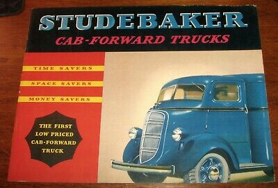 1937 Studebaker Trucks Cab-Forward Original Sales Brochure w/ Pictures COE