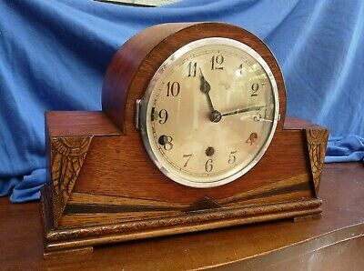 Art Deco Whittington & Westminster Chime Clock - Working