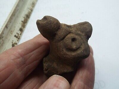 RARE Saladoid period pottery Morphology FIGURE HEAD  400 BC 600 AD AF2
