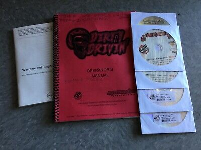 Raw Thrills Dirty Driving arcade game manual, restore discs, and game discs V1.0