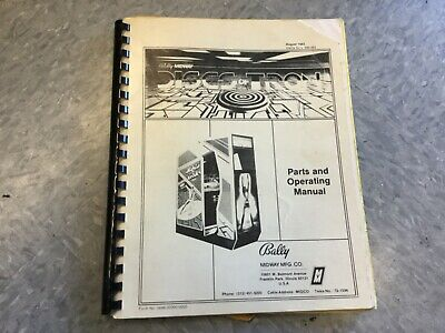 Bally Midway Discs of Tron environmental & upright video arcade game manual