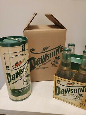 NEW! SEALED! Mountain Dew DEWshine 25 Fl.oz Limited Edition Glass Jug +12oz 4pk