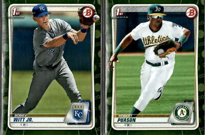 2020 Bowman Prospects Camo Parallel w/ 1st Bowman - You Pick From A List