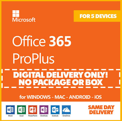 INSTANT MS Office 365 Personal 1 User 12 Month Account 2020 Edition PC Mac