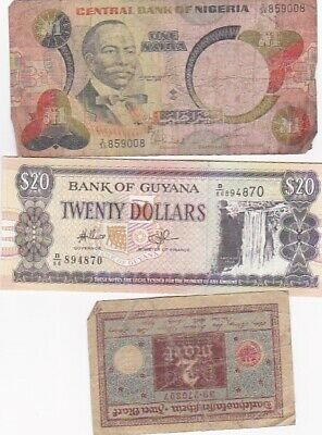7 1920-2012 Circulated Notes From All Over