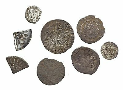 ENGLAND. Lot of 8 Silver hammered pennies, Henry and Edward