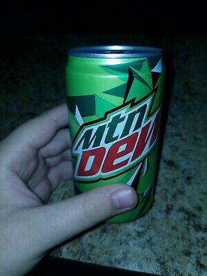 90% empty Unopened Mountain Dew Mini Can