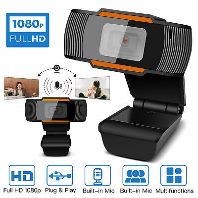 1080P HD Webcam With Microphone Auto Focusing Web Camera For PC Laptop Desktop
