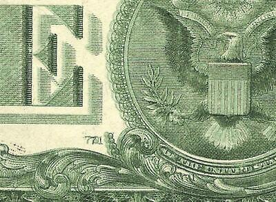 1999 $1 Dollar Bill Double Back Print Error Federal Reserve Note Currency Money