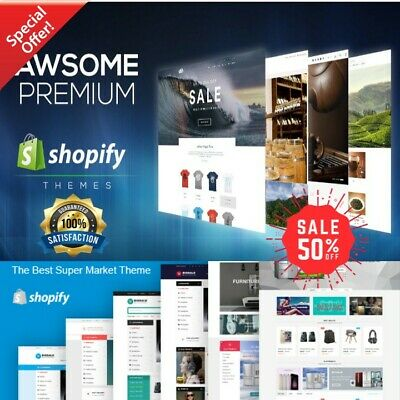 50 Best Premium Shopify Themes ⭐ Official ✔️  Fast Delivery ⭐ ✔️ Sales UP