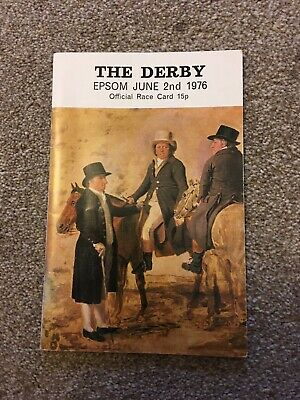 1976  Epsom Derby, Winner  Empery Wins For Lester Piggott. Card Signed By