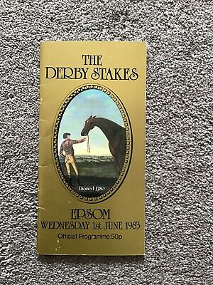 1983 Epsom Derby, Winner  Teenoso Wins For Lester Piggott.  Excellent Condition