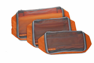 3pc Clarisonic Mesh Packing Cubes, Travel Pouch, Luggage Organiser, Storage Bag