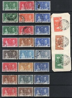 Omnibus - 1937 Coronation 8 different sets Fine Used, Inc Hong Kong.