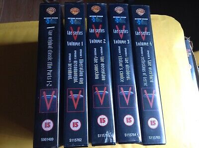 V - The Series - VHS - Classic Sci-Fi/Alien Invasion/Horror - 5 Tapes