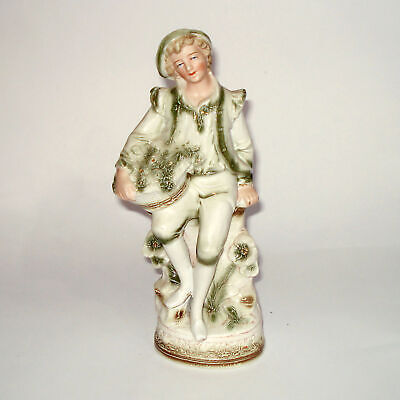 Vintage German Bisque Porcelain Figurine Boy, Deutsche Bisque Porzellan Figur