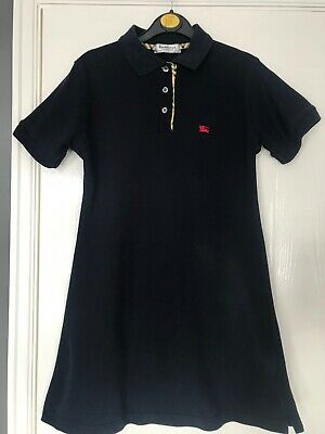 Authentic Vintage Navy Polo Shirt Dress Of Burberry Age 12