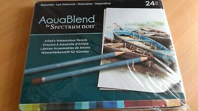 AquaBlend Artist's Watercolour Pencil Set by Spectrum Noir - NATURALS - BNIP