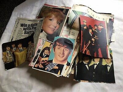 BOX OF BEATLES ORIGINAL MAGAZINE AND NEWSPAPER CUTTINGS Approx 100+