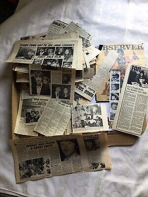 BOX OF BEATLES ORIGINAL MAGAZINE AND NEWSPAPER CUTTINGS Approx 40