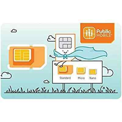 Public Mobile SIM - 99 CENTS -  ACTIVATION REQUIRED