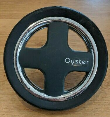 Babystyle Oyster 1 / 2 Rear Wheel - Grey and Chrome (Genuine Replacement Part)
