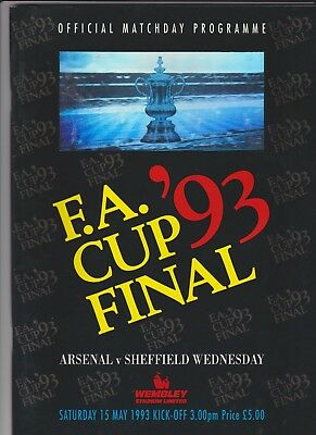 1993 F.A.Cup Final.Arsenal v Sheffield Wednesday.