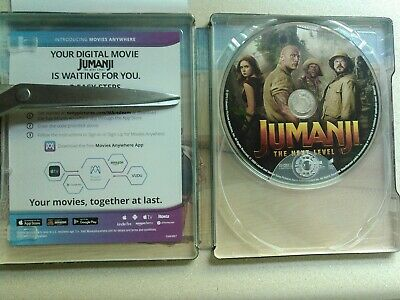 Jumanji The Next Level Blu Ray + Digital Movie Code From 4K Read Description