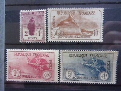 France N° 229 A 232 Orphelin Neufs Gomme Sans Charniere Ni Trace