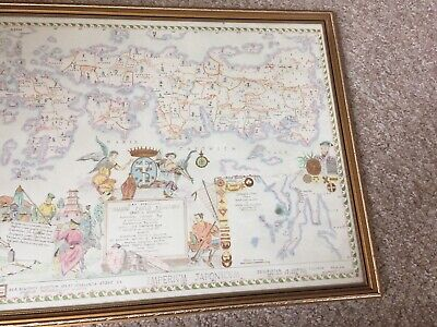 Old Picture __ Map __ Maris Japonica__ Pars __ 1715 __Framed__ Free p&p