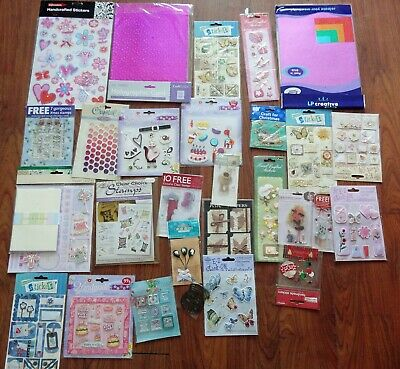 Job Lot of Craft Stickers Stamps etc All New in Sealed Packets   1