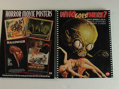 TWO 1990s HORROR~WHO GOES THERE? SCI-FI MOVIE POSTER PICTORIAL ENCYCLOPEDIAS