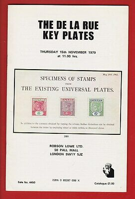 Auction Catalogue – British Empire: The De La Rue Key Plates +++++