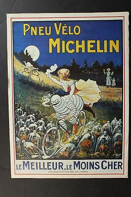 LOT of FIVE REPRINT FRENCH MICHELIN TIRE POSTERS (PRINTED CIRCA1980s)