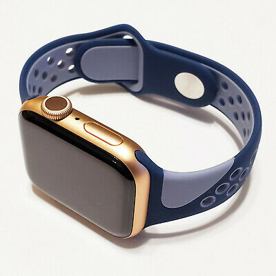 Soft Silicone Sports Band Compatible w/ Apple Watch Series 5, 4, 3, 2, and 1