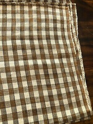 Early Linen Homespun fabric (dyed with onion skin) over a yard long