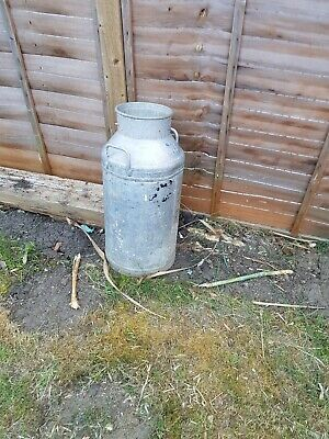 Milk churn vintage 10 gallon Aluminium