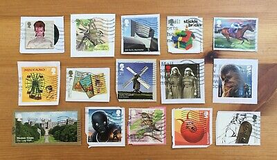 GB Used 2017 COMMEMORATIVE STAMPS x15 Modern Recent Rare Issues Kiloware [d]