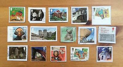 GB Used 2017 COMMEMORATIVE STAMPS x15 Modern Recent Rare Issues Kiloware [c]